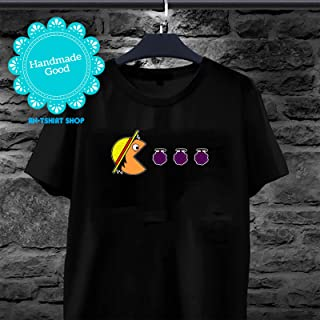 One Piece - Luffy Eats Devil Fruit Gomu Gomu No Mi Pac-man Video Games One Piece Anime T-shirt For Men And Women