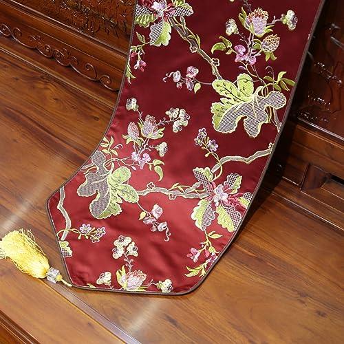 Sin impuestos DHSNJKL Corrojoor de la Tabla Camino Camino Camino de Mesa Bordado Corrojoor de la Tabla de Mesa-G 35x210cm(14x83inch)  marcas de moda