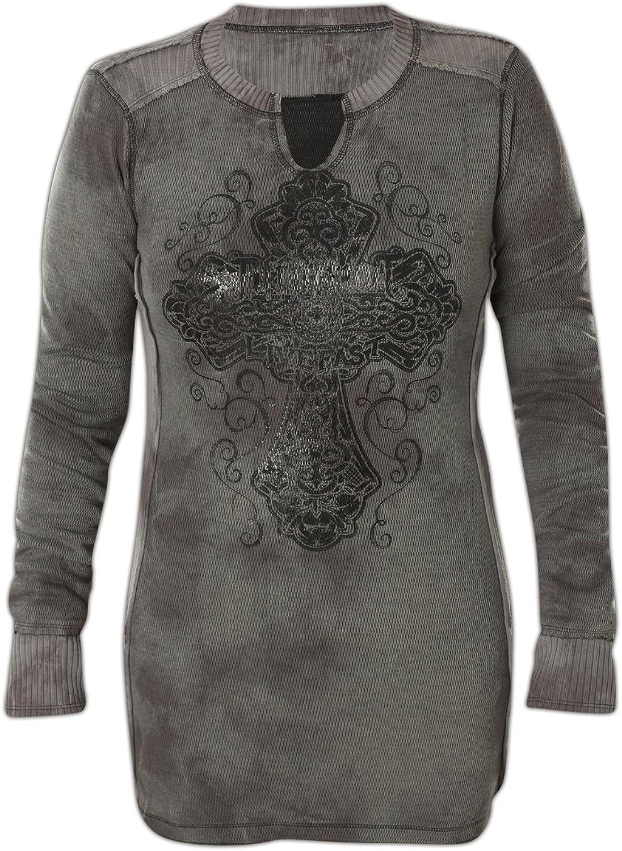 Affliction Women's Rossellini Thermal Sweatshirts