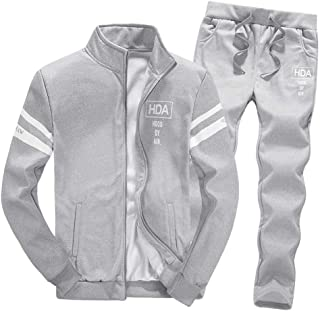 Boomboom Men Shirts, Teens Boys Zipper Leisure Jacket and Long Pants Casual Clothes Sets