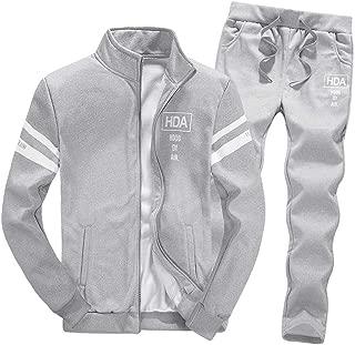 Boomboom Men Shirts, Teens Boys Zipper Leisure Jacket and Long Pants Casual Clothes Sets