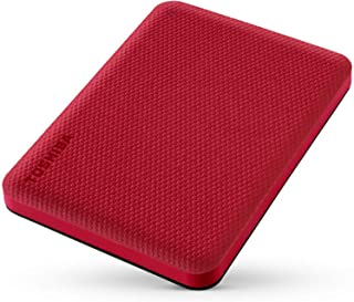 Toshiba HDTCA20ER3AA Canvio Advance 2TB USB 3.2 Portable External Hard Drive, Red