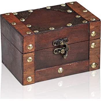 Brynnberg Caja de Madera Rivet 14x9,5x8,5cm - Cofre del Tesoro ...