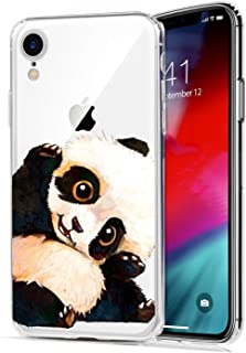 iPhone XR Case,Lovely Animal Panda Pattern Soft Silicone Protective Skin Shockproof Clear Art Design Bumper Back Cover for iPhone XR 9 (6.1 inches)