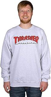 Thrasher Outlined Crewneck - Ash Grey