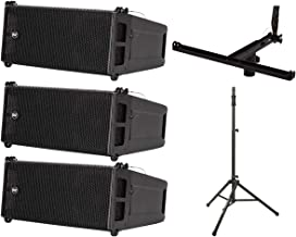 3X RCF HDL 6-A 1400W Line Array + Pole Mount Kit (Holds 3X)+ Lift Assist Stand