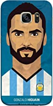 غطاء غطاء غطاء جراب ColorKing Football Higuain Argentina 02 أزرق اللون لهاتف Samsung S7 Edge