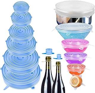 StillCool 16 Pack Couvercles Extensibles en Silicone Alimentaire Réutilisables sans BPA pour la Conservation des Aliments,...