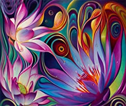 EOBROMD 5D DIY Diamond Painting, Embroidery Painting Wall Sticker for Wall Decor Full Drill - Lotus 12 x 16inch