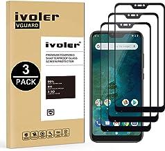iVoler [3 Unidades] Protector de Pantalla para Xiaomi Mi A2 Lite, [Cobertura Completa] Cristal Vidrio Templado Premium, [Dureza 9H] [Anti-Arañazos] [Sin Burbujas]