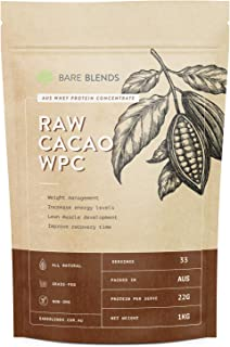 Bare Blends - Natural Whey Protein Concentrate Powder with Raw Cacao | WPC | Chocolate Whey Protein Powder | Gluten Free |...