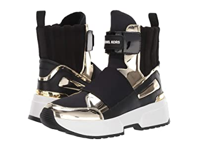 MICHAEL Michael Kors Cosmo High Top (Black/Pale Gold) Women