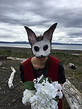 Creepy White Rabbit Masquerade Masks - Adult Halloween Mask - Custom Handmade Horror Props - Scary Animal Masks