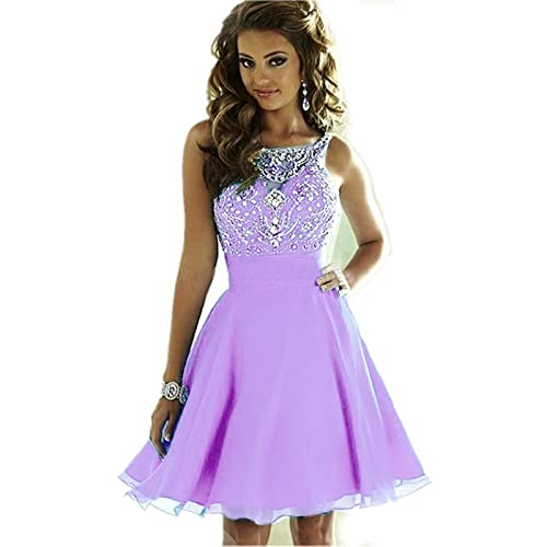 8a8fa4c15f3 MEILISAY Meilishuo Women s Sparkly Beading Prom Dresses Short Homecoming  Dresses 2018 for Juniors LF-146