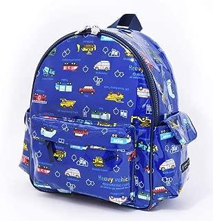 通園リュック ショルダー 幼稚園バッグ 保育園バッグ  アクセル全開はたらく車(ネイビー) N0626400