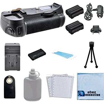 Universal Wireless Remote D5200 DSLR Cameras, 2 EN-EL14 Long Life Batteries Home//Car Charger All-In-One Card Reader /& eCostConnection Starter Kit Battery Grip for Nikon D5100