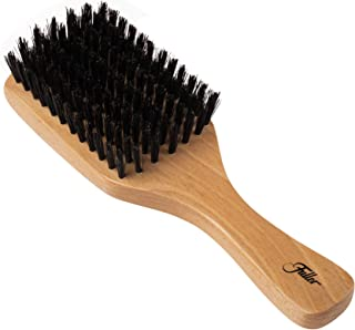Fuller Brush Natural Beech Wood Club Hairbrush – Hand-Crafted, Heirloom Quality Hair Brush with Firm Natural Boar Bristles for Brushing and Smoothing All Types of Hair – Made in USA