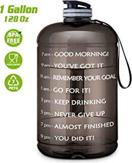 FRETREE Gallon Water Bottle Portable Water Jug - Fitness...