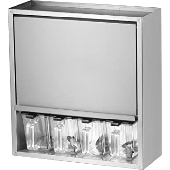 川口工器 ヘアライン ステンレス スパイスラック (調味料ポット4杯) 21384