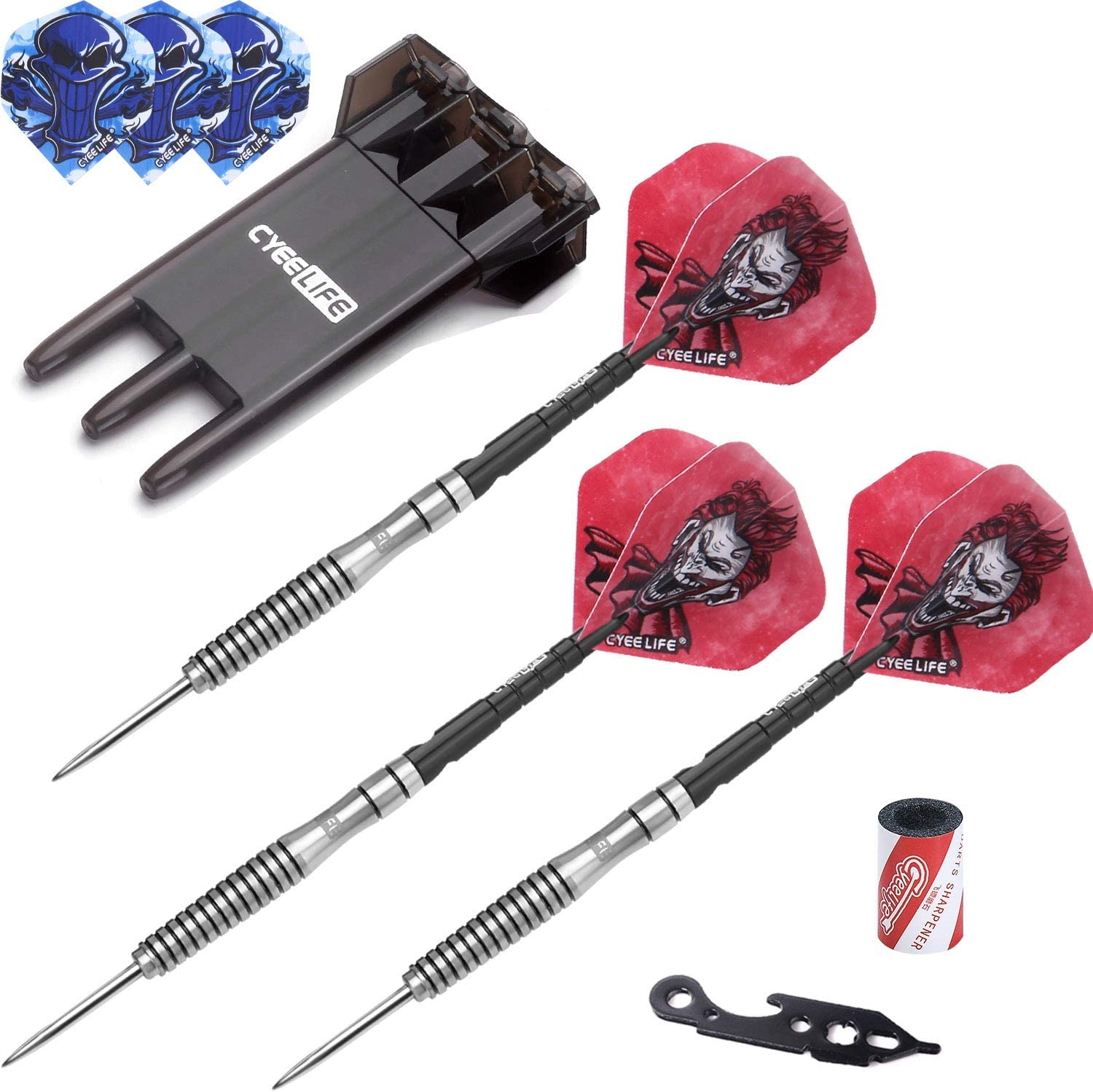 CyeeLife-90% Tungsten Steel tip Darts with Cash special price 22 New York Mall 23g Case Carrying