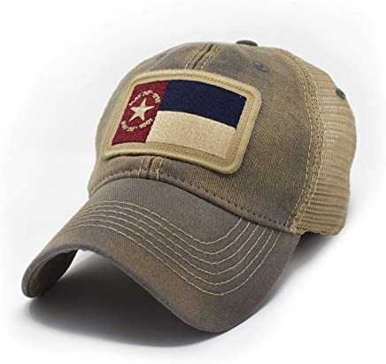 a0345f154068e4 North Carolina 1861 Flag Trucker Hat, Heritage Collection, Drifter Gray