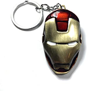 | Iron Man Mask Keychain Ironman Avengers Keyring