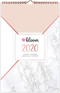 """bloom daily planners 2020 Monthly Hanging Wall Calendar (January 2020 Through December 2020) - 11"""" x 17"""" - Seasonal Designs"""
