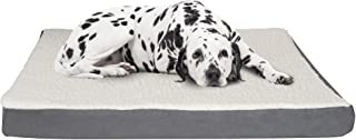 Orthopedic Sherpa Top Pet Bed with Memory Foam and Removeable Cover 44x35x4.75 Gray by PETMAKER (80-PET5091G)