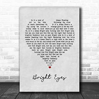 Bright Eyes Grey Heart Quote Song Lyric Music Poster Gift Present Art Print