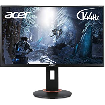 Acer XF0 (XF240Hbmjdpr) 61 cm (24 Zoll) TN Monitor Matt (MHL, DP, FHD 1920 x 1080, 1ms GTG, 144Hz (DP), 350 Nits, Höhenverstellbar, Pivot, NVIDIA G-Sync Kompatibel)