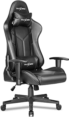 GALAXHERO ゲーミングチェア げーみんくチェア eスポーツ用椅子 オフィスチェア リクライニング ハイバック ランバーサポート PUレザー ADJY612BL