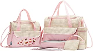 SoHo Animals Diaper Tote Bag 10Pc Value, Pink Cake