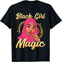 Muslim Black Girl Magic Hijab Shalya Veil Islam Melanin Pink T-Shirt