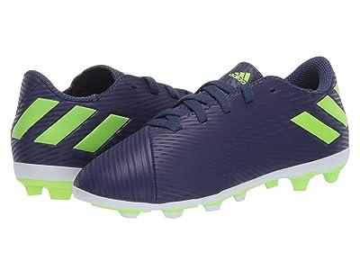 adidas Kids Nemeziz Messi 19.4 FXG Soccer (Little Kid/Big Kid) (Tech Indigo/Signal Green/Glory Purple) Kid