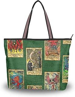 My Daily Women Tote Shoulder Bag Tarot Cards Vintage Handbag Large