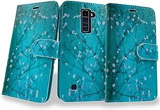 LG K7 / K8 Case,LG Tribute 5 Case,LG Escape 3 Case, Mstechcorp Kickstand Flip Folio PU Leather Protective wallet Case Cover for LG K7 / K8 / Escape 3 / Tribute 5 with Goodie (Bloom Teal)