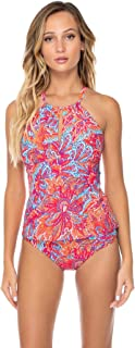 Sunsets Women's Hi-Neck Tankini with Removable Cups