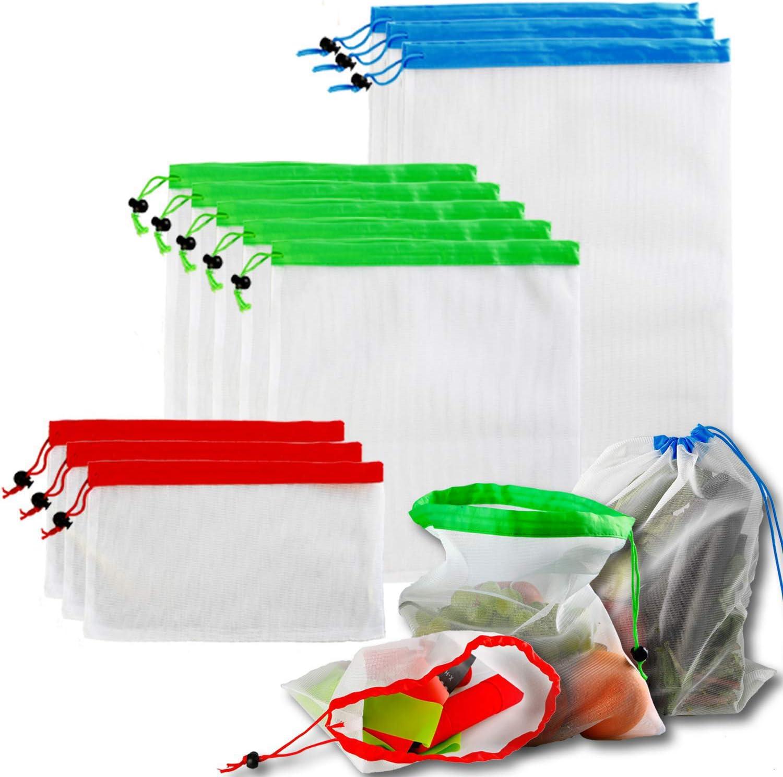 WeTest 12 Pcs Reusable Mesh Berosy Bags Lightw Spasm price Produce Washable Bargain sale