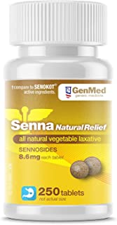 Genmed Senna, 250 Count