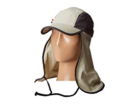 OCM4623 Lightweight 5 Panel Cap with Perforated Side Panels with Neck Cover and Neck Tie