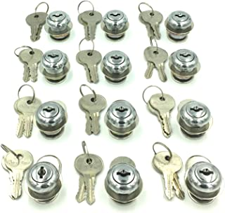 BRUFER 209661-1 Drawer and Cabinet Lock, 5/8 in, Stainless Steel Finsih (12 Pieces)