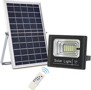 Solar Powered Flood Lights Outdoor Dusk to Dawn, 800 Lumens IP67 Waterproof, Remote Control Solar Lights Auto On/Off for Garden,Yard,Patio,Driveway,Porch