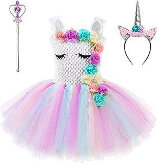 Flower Unicorn Costume for Girls Pageant Princess Tutu Party Dresses