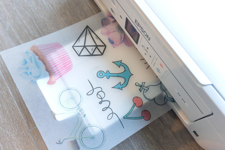 SKULLPAPER film retráctil transparente de calidad premium en DIN A4 / film plástico retráctil / película retráctil imprimible translúcido para artesanía para impresora de inyección de tinta (10 hojas): Amazon.es: Juguetes y juegos