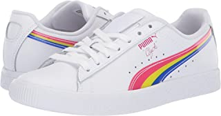 PUMA Women's Clyde 90s Fashion Sneakers White/Fuchsia