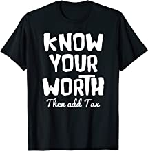 Know Your Worth T Shirt - Motivational T-Shirt Men Women