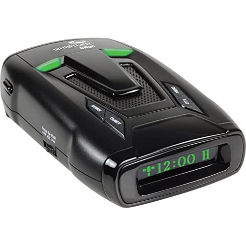Whistler CR90 High Performance Laser Radar Detector: 360 Degree Protection, Voice Alerts, and