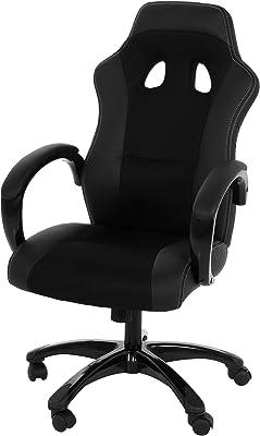 AC Design Furniture Imola Silla de Escritorio, Piel Sintética, Nylon, Negra, 67.00