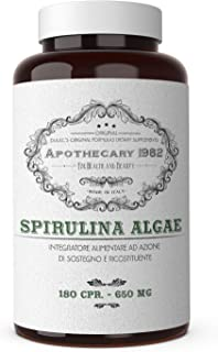Spirulina 180 Compresse, Alga Spirulina Compresse 500mg, Spirulina Brucia Grassi, Integratore Dimagrante ricco di Protein...