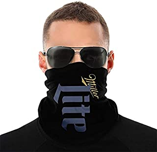 OHMGD Miller-Lite Face Mask Dust Neck Gaiter Men & Women For Outdoor Sports Cover Scarf Bandana